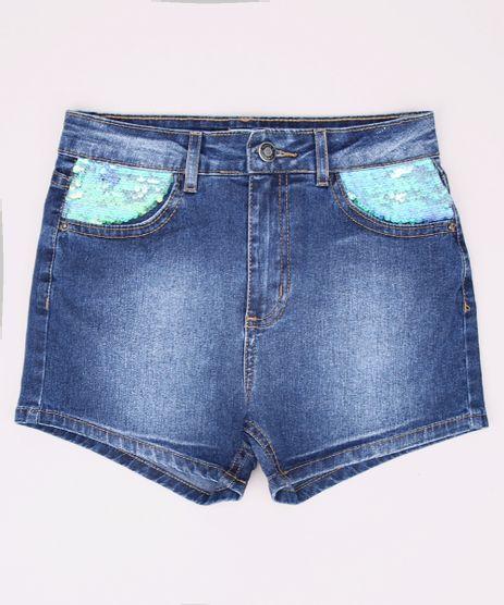 Short-Jeans-Juvenil-com-Paetes-e-Bolsos-Azul-Medio-9966617-Azul_Medio_1