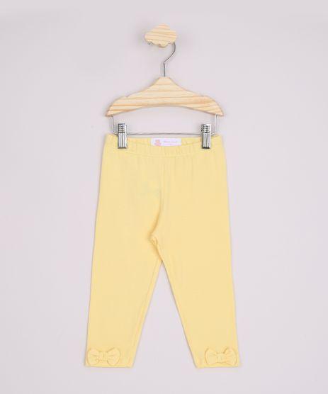 Calca-Legging-Infantil-Basica-Laco-e-Cos-com-Elastico-Amarela-9970648-Amarelo_1