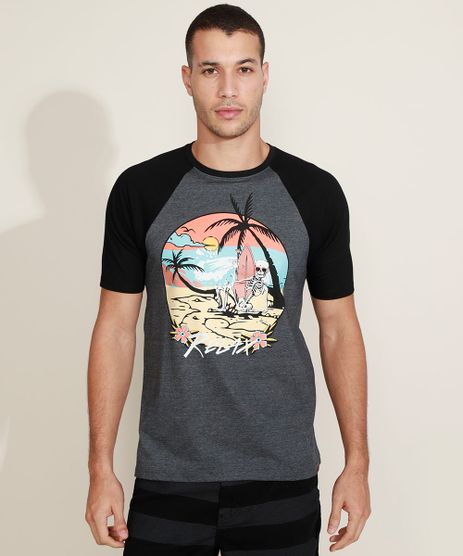Camiseta-Masculina-Raglan-Caveira-Manga-Curta-Gola-Careca-Cinza-Mescla-Escuro-9970563-Cinza_Mescla_Escuro_1