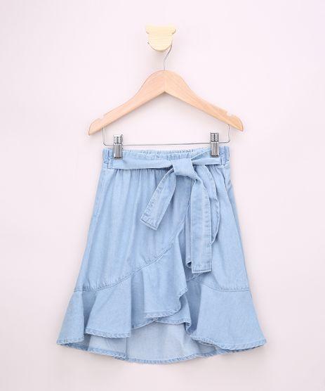 Saia-Jeans-Infantil-Midi-Transpassada-com-Babado-e-Faixa-para-Amarrar-Azul-Claro-9959394-Azul_Claro_1