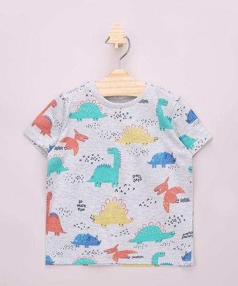 Camiseta-Infantil-Estampada-de-Dinossauros-Coloridos-Manga-Curta-Cinza-Mescla-9963735-Cinza_Mescla_1