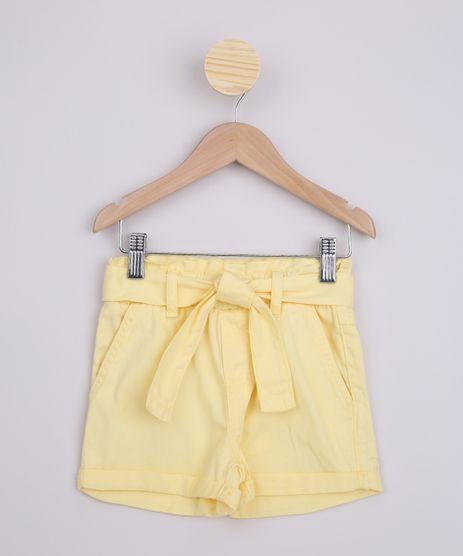 Short-Infantil-de-Sarja-Clochard-com-Faixa-e-Bolsos-Amarelo-9965920-Amarelo_1
