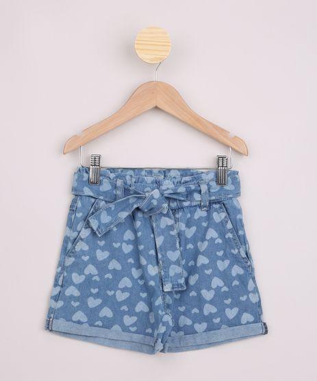 Short-Jeans-Infantil-Clochard-Estampado-de-Coracoes-com-Faixa-e-Bolsos-Azul-Medio-9965922-Azul_Medio_1