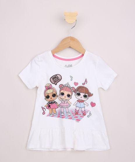 Blusa-Infantil-Ampla-LOL-Surprise-com-Brilho-e-Bordado-Manga-Curta-Off-White-9955182-Off_White_1
