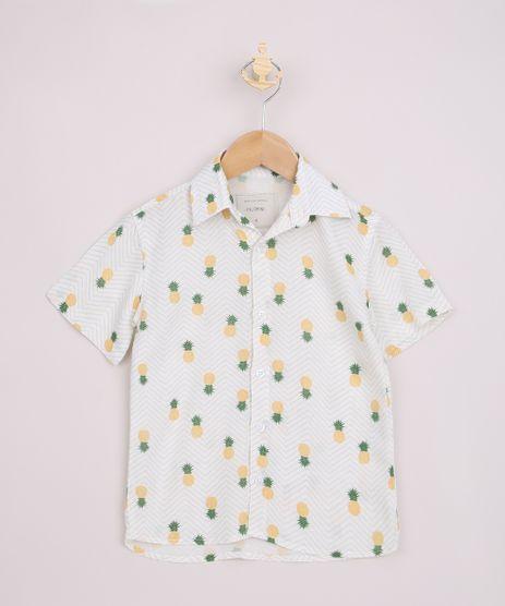 Camisa-Infantil-Estampada-Abacaxi-e-Chevron-Manga-Curta-Off-White-9967551-Off_White_1