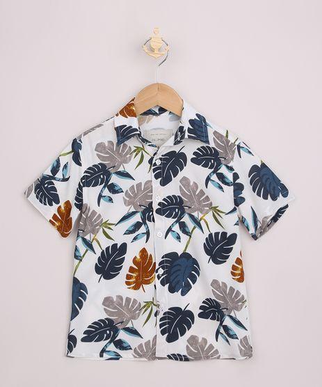 Camisa-Infantil-Estampada-Folhagem-Manga-Curta-Off-White-9967553-Off_White_1