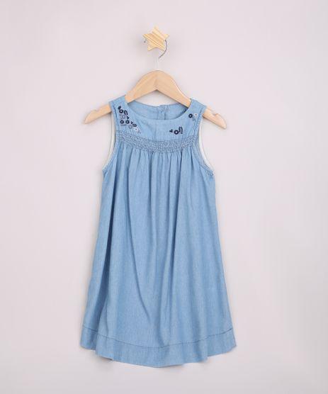Vestido-Jeans-Infantil-Bordado-de-Flores-Alcas-Medias-Azul-Claro-9967378-Azul_Claro_1