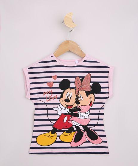 Blusa-Infantil-Listrada-Mickey-e-Minnie-com-Brilho-Manga-Curta-Rosa-Claro-9967696-Rosa_Claro_1