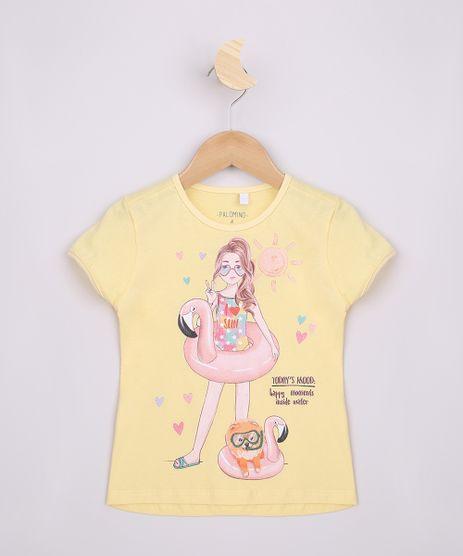 Blusa-Infantil-Menina-com-Brilho-Manga-Curta-Amarela-9965734-Amarelo_1