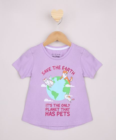 Blusa-Infantil-Ampla--Save-The-Earth--Manga-Curta-Lilas-9966341-Lilas_1