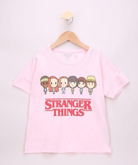 Blusa-Juvenil-Ampla-Stranger-Things-Manga-Curta-Rosa-Claro-9967689-Rosa_Claro_1