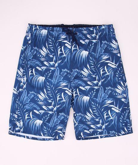 Bermuda-Surf-Juvenil-Estampada-de-Folhagens-Azul-9962792-Azul_1