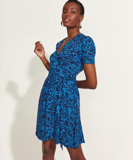 Vestido-Feminino-DVF-Curto-Envelope-Estampado-Assinatura-Manga-Bufante-Azul-Marinho-9954219-Azul_Marinho_1