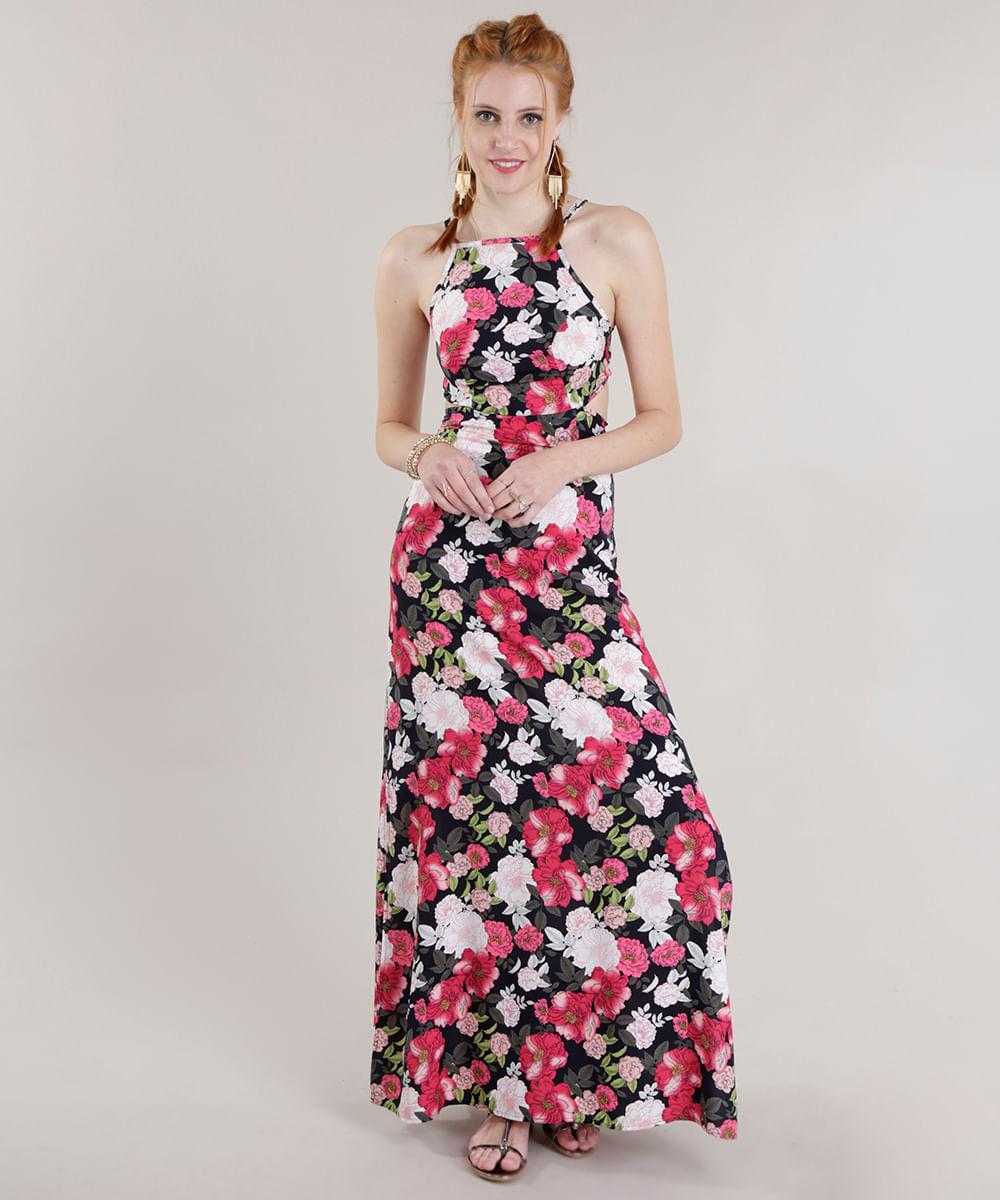 320d365da ... Vestido-Longo-Estampado-Floral--Preto-8700674-Preto_1