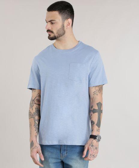 Camiseta-Basica-em-Algodao---Sustentavel-Azul-Claro-8618283-Azul_Claro_1