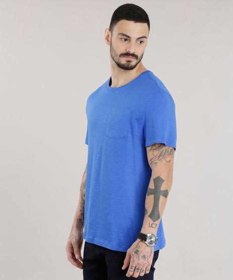 Camiseta-Basica-em-Algodao---Sustentavel-Azul-Royal-8618283-Azul_Royal_1