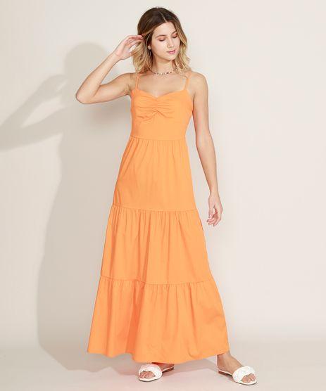 Vestido-Feminino-Longo-com-Recortes-Alca-Fina-Laranja-Claro-9972535-Laranja_Claro_1