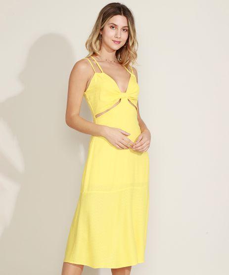 Vestido-Feminino-Midi-Cut-Out-Alca-Fina-Dupla-Amarelo-9963529-Amarelo_1