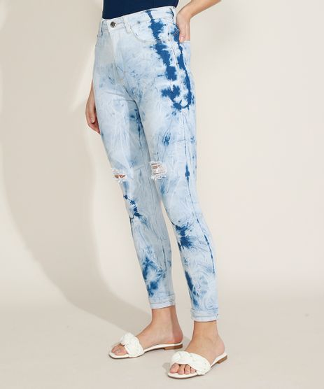 Calca-Jeans-Feminina-Sawary-Cigarrete-Push-Up-Estampada-Tie-Dye-Cintura-Alta-Destroyed-Azul-Claro-9973350-Azul_Claro_1