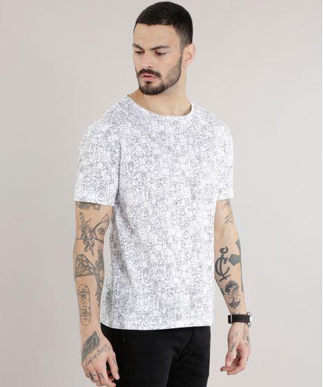 16598512b5 Camiseta-Estampada-Os-Simpsons-Branca-8674191-Branco 1 ...