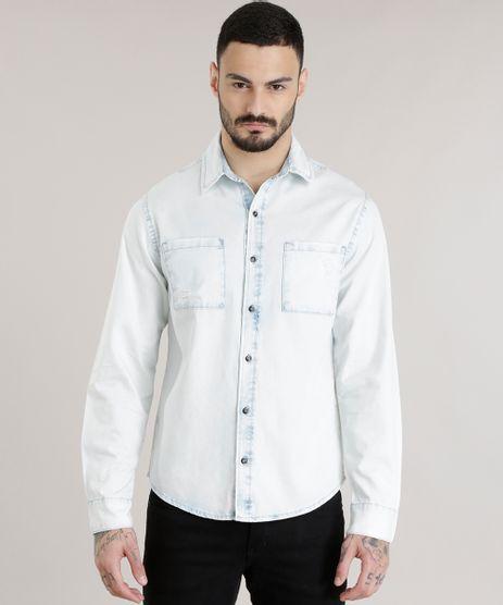 cea37b0cba Camisa-Jeans-Azul-Claro-8708681-Azul Claro 1