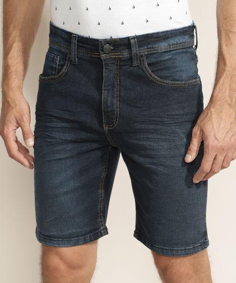Bermuda-Jeans-Masculina-Slim-com-Bolsos-Azul-Escuro-9966733-Azul_Escuro_1