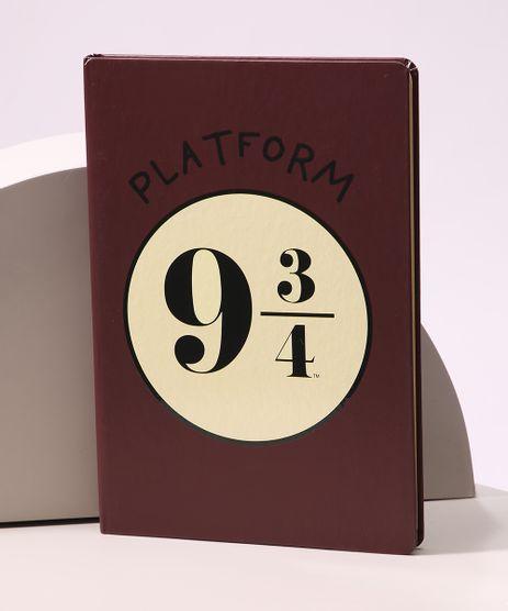 Caderno-Plataform-9-3-4-Harry-Potter-com-Pauta-205-cm-x-14-cm-Vinho-9965909-Vinho_1