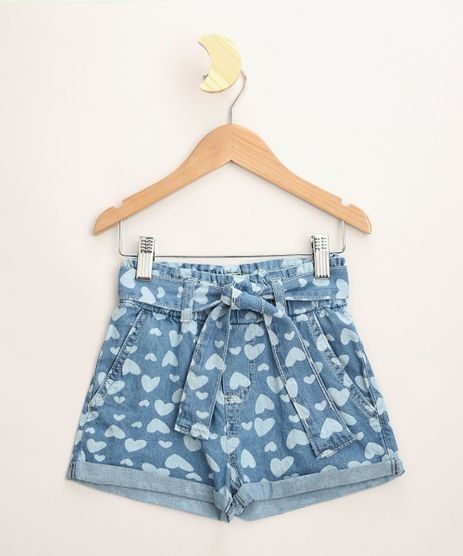 Short-Jeans-Infantil-Clochard-Estampado-de-Coracoes-com-Faixa-para-Amarrar-Azul-Medio-9965922-Azul_Medio_1