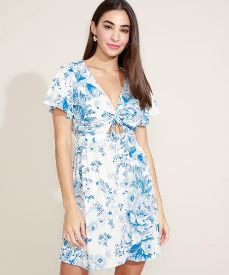 Vestido-Feminino-Curto-Estampado-Floral-com-Vazado-e-Cordao-Manga-Curta-Decote-V-Off-White-9961352-Off_White_1