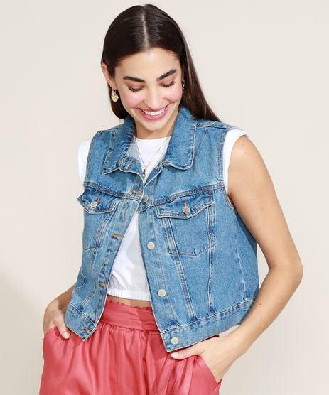 Colete-Jeans-Feminino-Cropped-Marmorizado-Azul-Escuro-9964763-Azul_Escuro_1