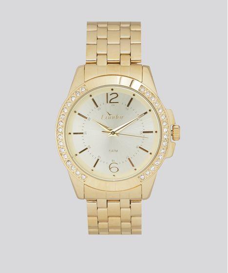 f5a9734035f Relógio Analógico Condor Feminino - CO2035KOU 4D Dourado - cea