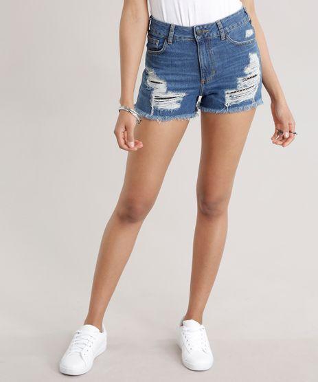 Short-Jeans-Vintage-Destroyed-com-Tela-Azul-Medio-8743680-Azul_Medio_1