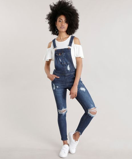 Macacao-Jeans-Destroyed-Azul-Escuro-8711439-Azul_Escuro_1