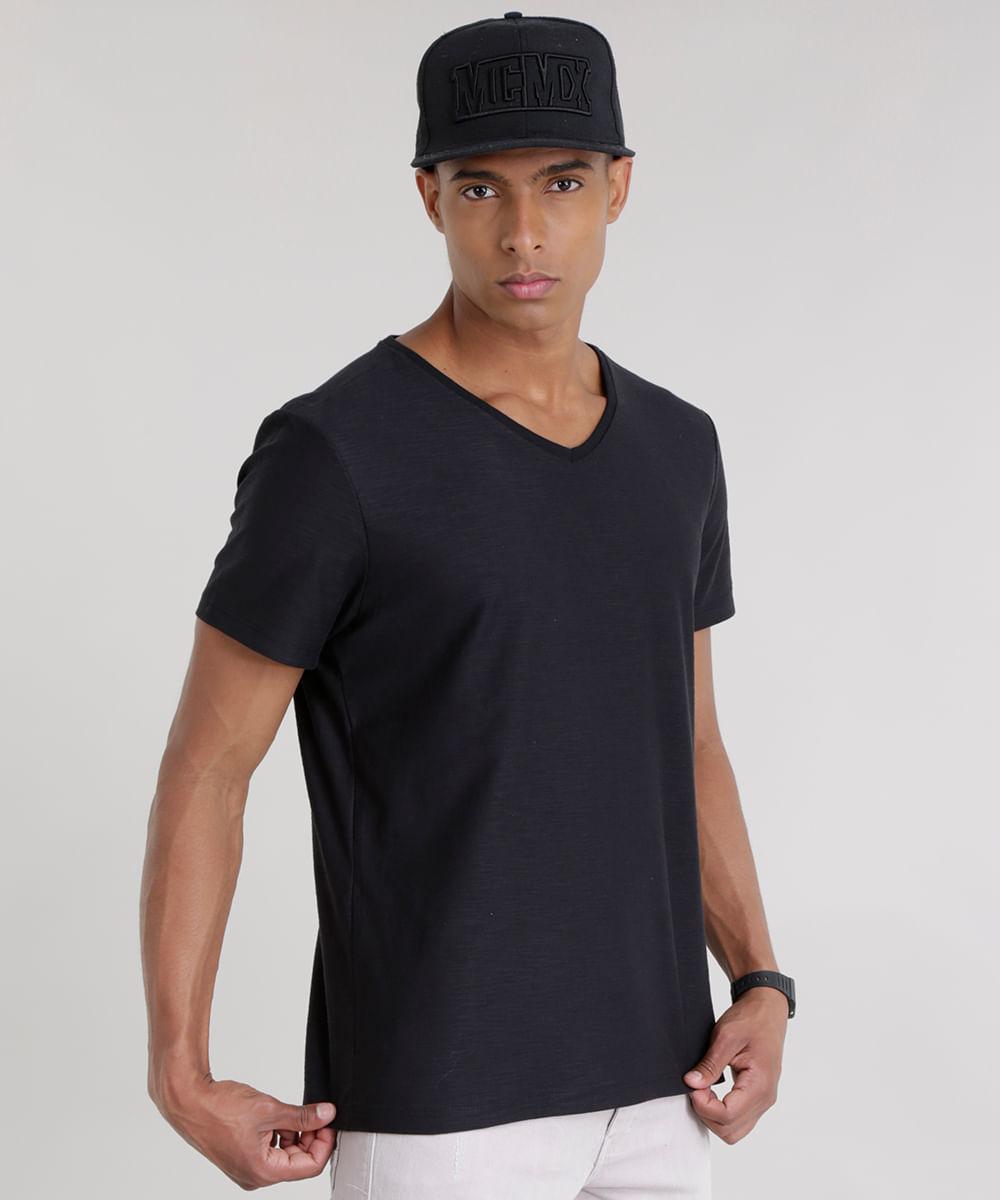 Camiseta Flamê Básica Preta