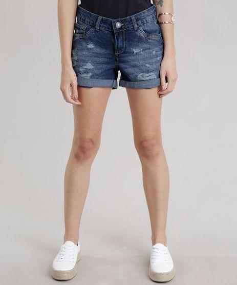 Short-Jeans-Relaxed-Destroyed-Azul-Escuro-8707476-Azul_Escuro_1