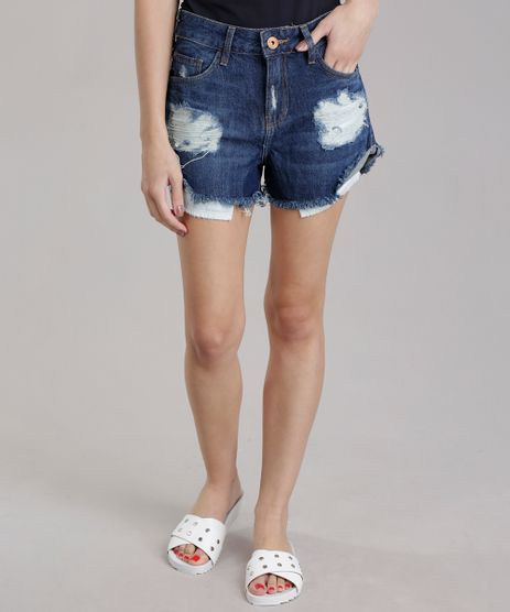 Short-Jeans-Relaxed-Destroyed-Azul-Escuro-8745230-Azul_Escuro_1