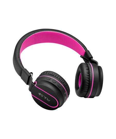 Fone de Ouvido Heaphone Bluetooth Fun Rosa e Preto Pulse Sound Ph216