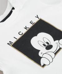 191e63c183 Conjunto de Camiseta Mickey Branca em Algodão + Sustentável + ...