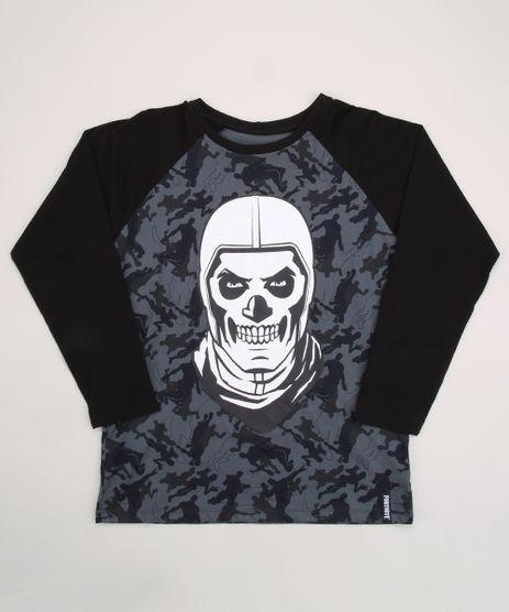 Camiseta-Juvenil-Fortnite-Estampada-Camuflada-Manga-Longa-Raglan-Chumbo-9962564-Chumbo_1