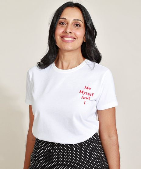 T-Shirt-Feminina-Mindset--Me-Myself-and-I--Manga-Curta-Decote-Redondo-Branca-9974839-Branco_1