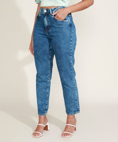 Calca-Jeans-Feminina-Mindset-Reta-Cintura-Super-Alta-Marmorizada-Azul-Medio-9974841-Azul_Medio_1