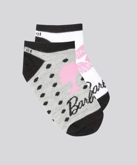 Kit-de-2-Meias-Soquete-Estampadas-Barbie-Multicor-8305450-Multicor_1