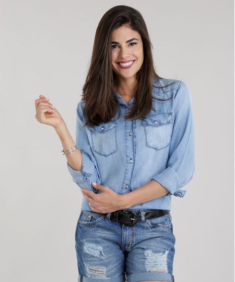 d6862d396406a Camisa-Jeans-Azul-Claro-8710821-Azul Claro 1