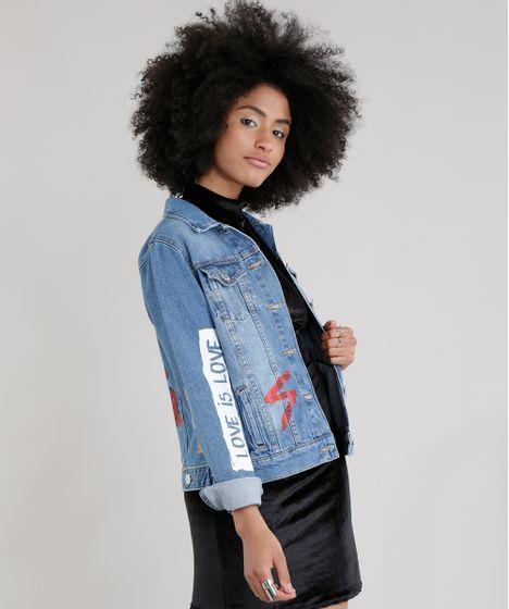 67e46b145 Jaqueta-Jeans-com-Estampa-Azul-Medio-8743131-Azul Medio 1 ...