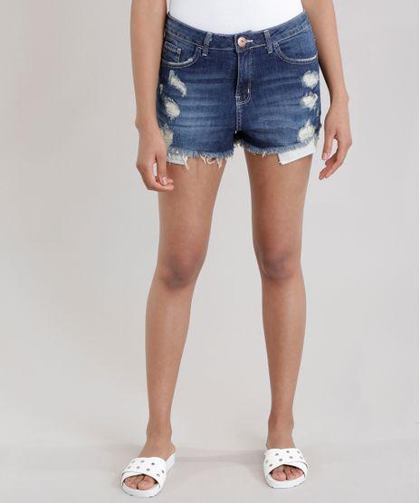 Short-Jeans-Relax-Stretch-Destroyed-Azul-Escuro-8748512-Azul_Escuro_1