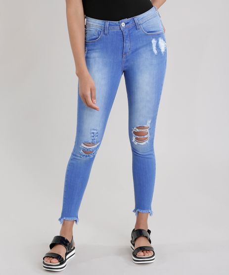 Calca-Jeans-Cigarrete-Destroyed-Azul-Medio-8711165-Azul_Medio_1