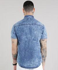 07e37da436387 ... Camisa-Jeans-Marmorizada-Azul-Medio-8708014-Azul Medio 1 ...