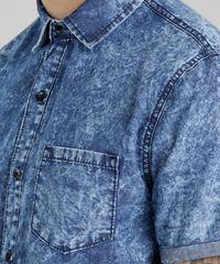 994854c992e7a ... Camisa-Jeans-Marmorizada-Azul-Medio-8708014-Azul Medio 1