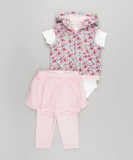 Conjunto-de-Colete-Estampado-Floral-com-Capuz---Body---Calca-com-Tule-Rosa-8659220-Rosa_1