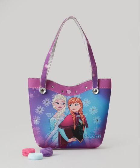 Bolsa-Frozen-com-Elastico-de-Cabelo-Roxa-8770123-Roxo_1